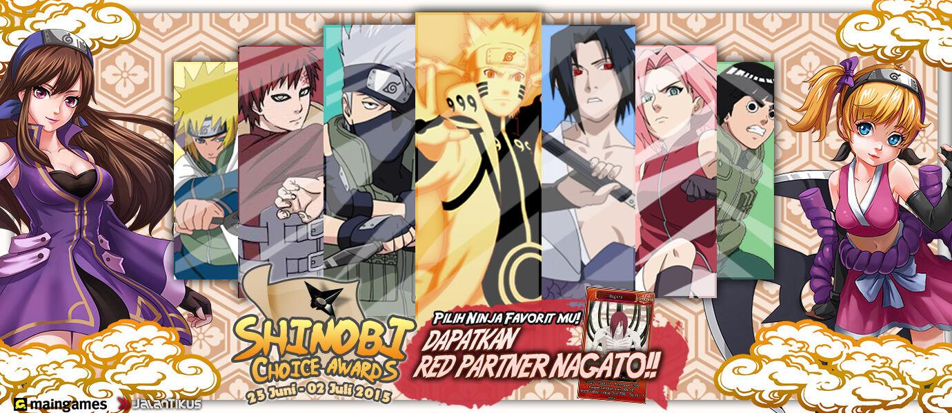 Ayo Pilih Ninja Favoritmu di Shinobi Choice Awards dan Dapatkan Grand Prize Menarik!