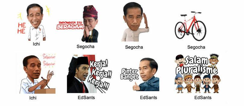Ternyata Ini Lho Sticker LINE Pilihan Presiden Jokowi, Keren Ya?!