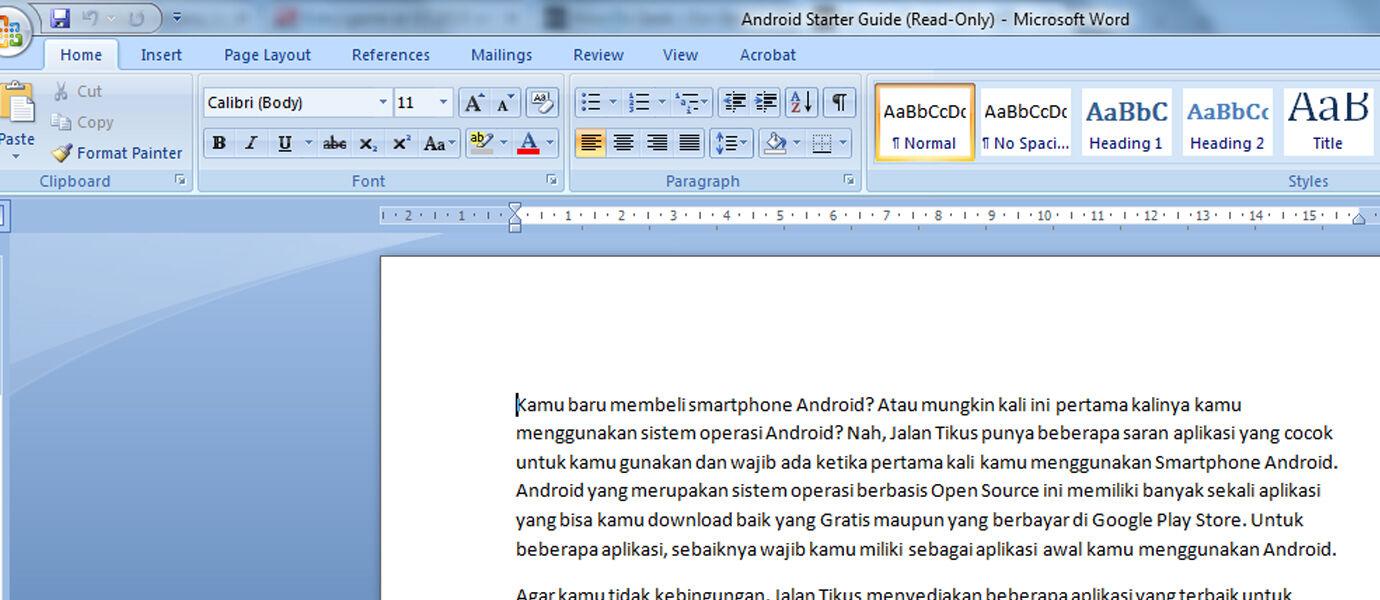 Cara Membuka File Microsoft Word Tetapi Read Only