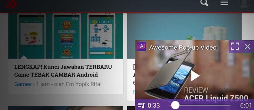 Cara Nonton YouTube Sambil Membuka Aplikasi Lain di Android