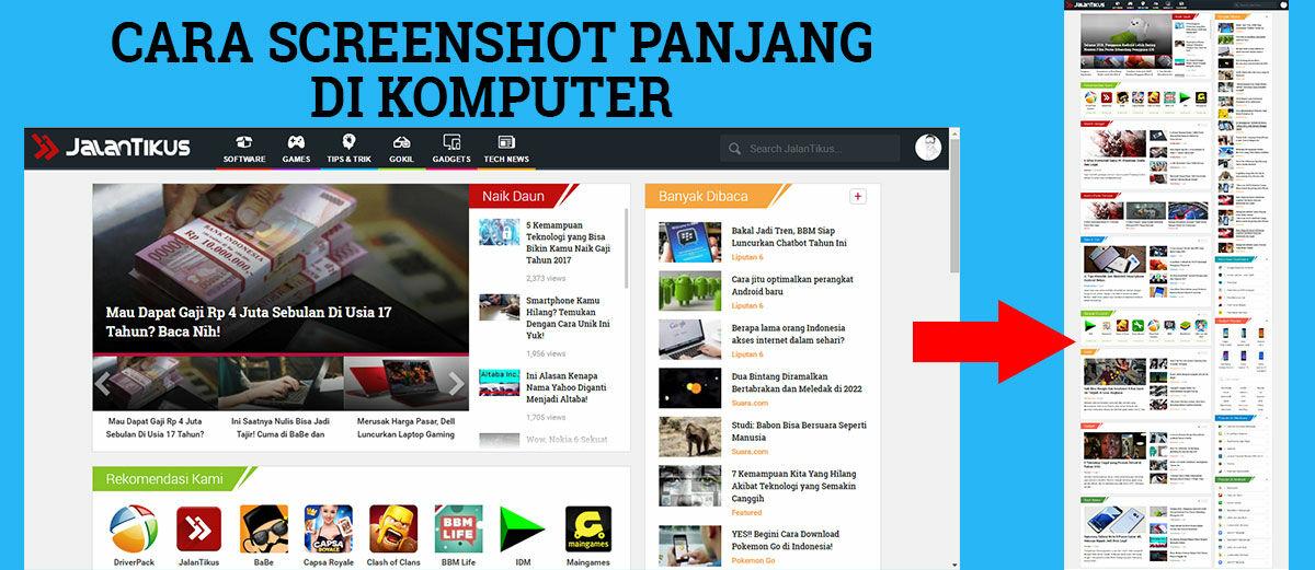 Cara Screenshot Panjang Tampilan Web di Komputer