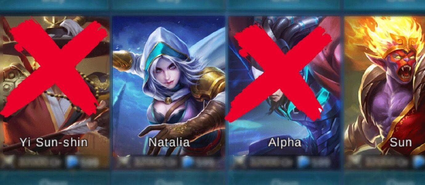 DUH! Saking Kuatnya, 5 Hero Mobile Legends ini Sering Jadi Korban Banned