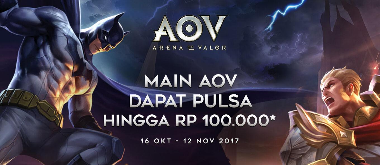 Gak Boong! Ini Cara Dapat Pulsa Rp 100 Ribu Gratis di Arena of Valor (AoV)