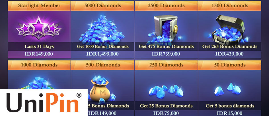 Resmi! Begini Cara Beli Diamonds Mobile Legends di UniPin