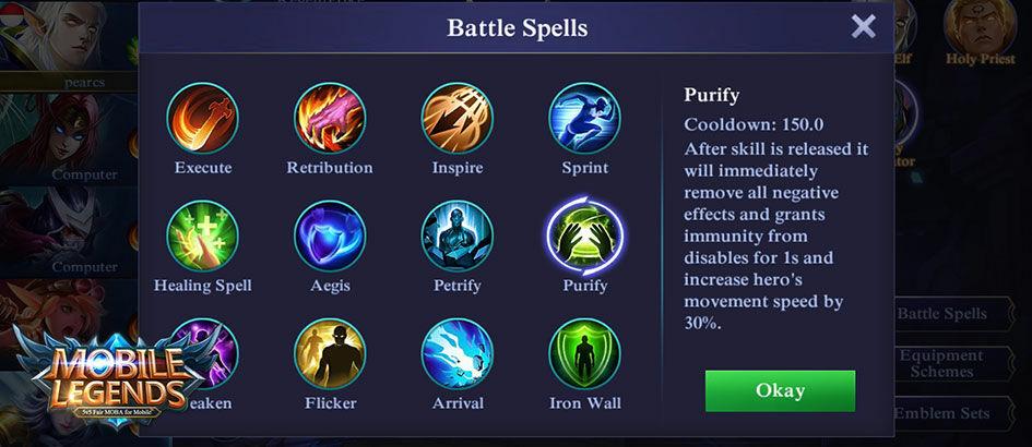 5 Battle Spell Untuk Bertahan di Mobile Legends, Biar Gak Gampang Mati!