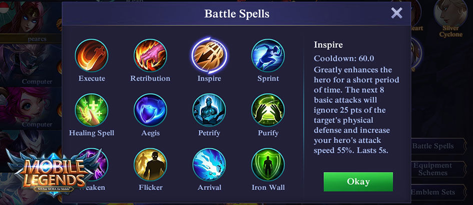 5 Battle Spell di Mobile Legends Ini Bisa Membantu Bunuh Musuh dengan Cepat