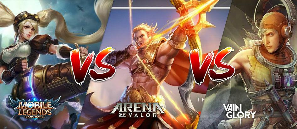 Mobile Legends VS VainGlory VS AOV, Lebih Baik Mana?