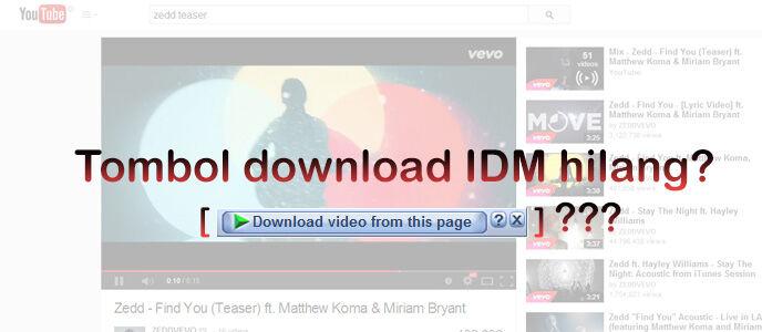 Cara Memunculkan Tombol IDM di YouTube yang Hilang
