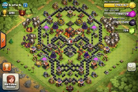 Base Coc Th 7 Bentuk Tengkorak 3