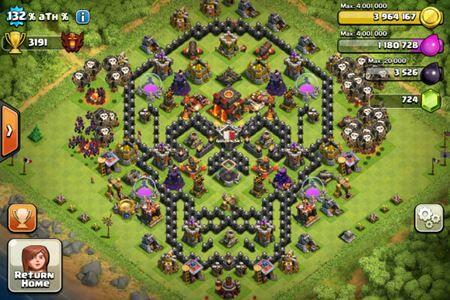Base Coc Th 8 Gambar Tengkorak 6
