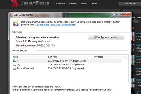 Cara Menggunakan Disk Defragment Di Windows 2