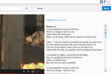Cara Menampilkan Lirik Lagu Di Google Chrome 4
