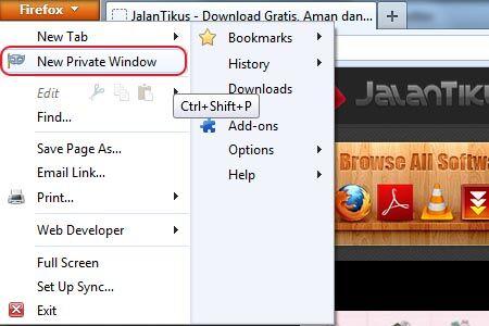 Cara Menggunakan Private Browsing Di Firefox 1