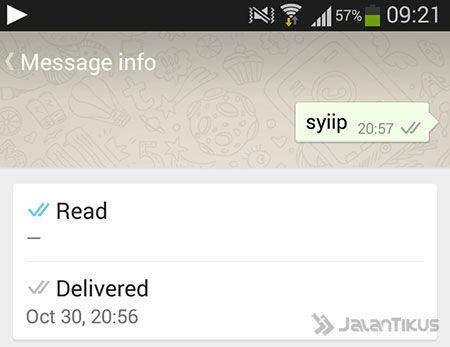 Centang Biru Tanda Chat WhatsApp Telah Dibaca