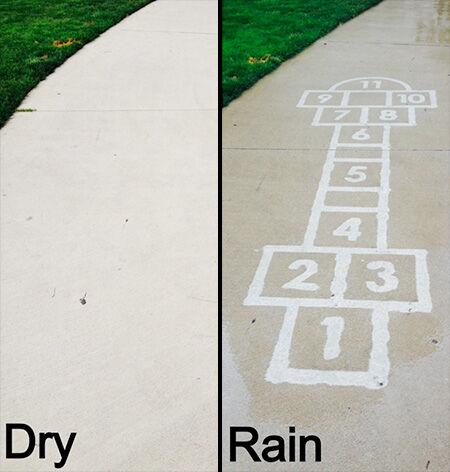 Inilah Karya Seni Yang Hanya Bisa Dilihat Saat Hujan Turun 2