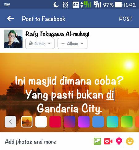 Cara Membuat Status Foto Di Facebook 3
