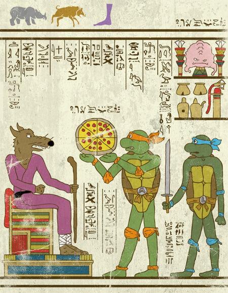 7 Wujud Superhero Yang Digambar Dengan Gaya Mesir Kuno 1