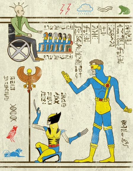 7 Wujud Superhero Yang Digambar Dengan Gaya Mesir Kuno 4