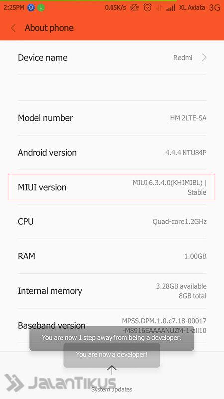 Cara Root Xiaomi Redmi 2 1