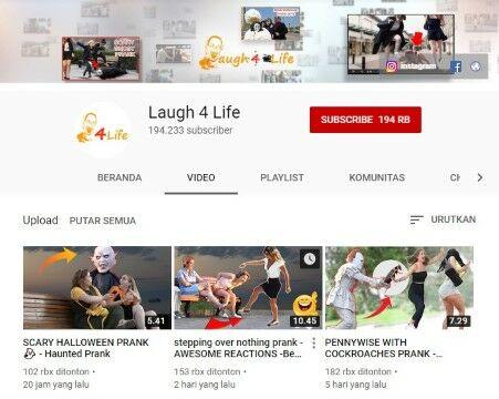 Channel Youtube Prank Laugh 4 Life Custom B57f6