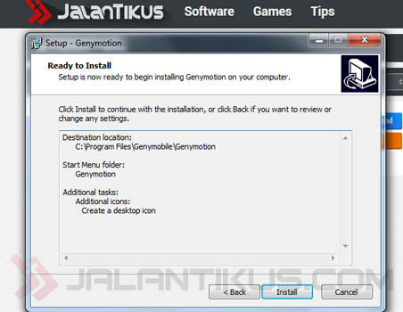 Cara Install Genymotion Di Pc 2