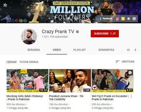 Channel Youtube Prank Crazy Prank Tv Custom 8392e