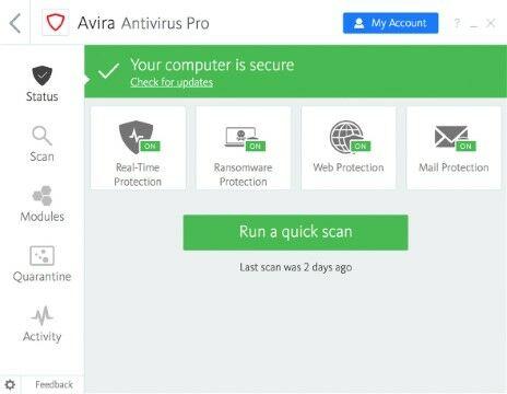 Antivirus Pc Cepat Dan Ringan Terbaik 5a708