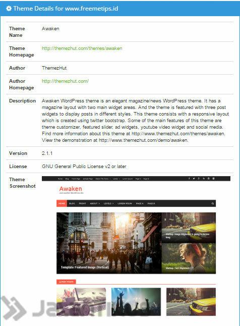 Cara Mengetahui Theme Wordpress Orang Lain