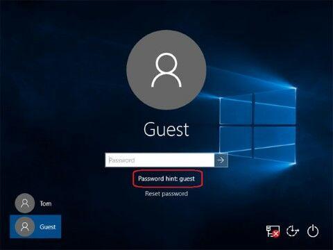 Langkah Dua Lupa Password Windows 10 Menggunakan Hint Custom 2af1a