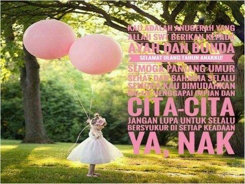 Gambar Dan Ucapan Ulang Tahun Islami Untuk Anak Perempuan Custom 613d5