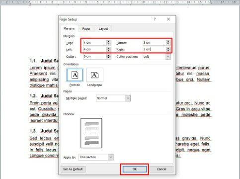 Cara Mengatur Margin Di Word Untuk Skripsi Dan Makalah Custom 4db54