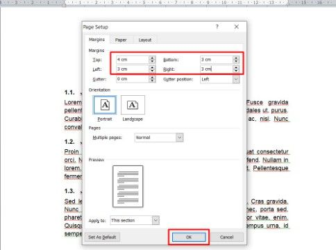 Cara Mengatur Margin 4333 Di Word Custom C0dc3