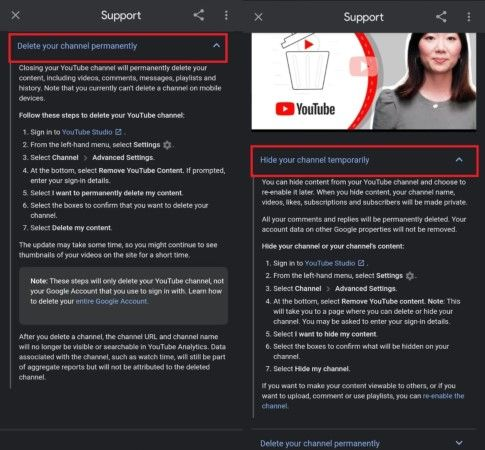 Cara Menghapus Akun Youtube 23506