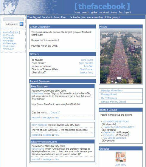 Sejarah Tampilan Facebook Tahun 2004