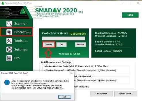 Cara Menonaktifkan Smadav 2020 Melalui Aplikasi Cd3fa