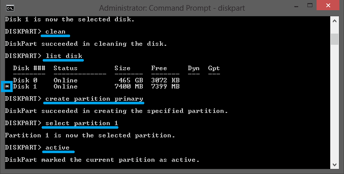 Format Flashdisk Melalui CMD 3