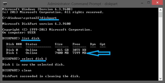 Format Flashdisk Melalui CMD 2