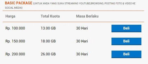 daftar paket internet 4G paling murah bolt 5