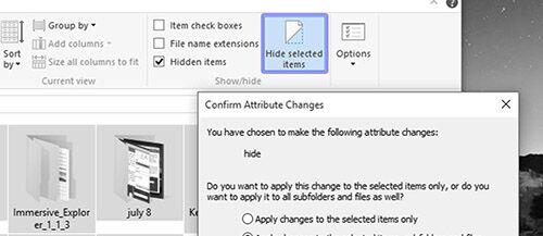 Tips Menyembunyikan File 4