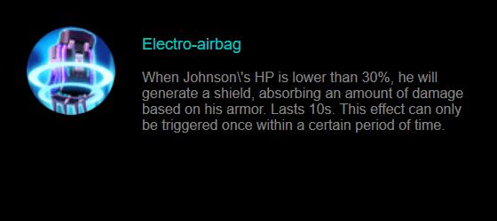 Skill Pasif Johnson: Electro-airbag
