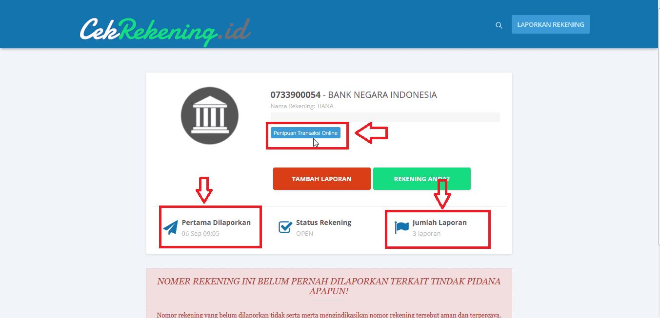 Cara Cek Rekening Penipu Online Jalantikus Com