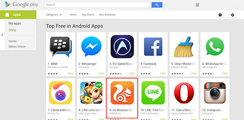 Uc Browser Android Masuk Top 10 Free Di Google Play Store