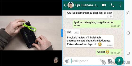 Splitscreen Vivo V7