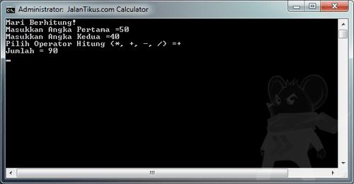Kalkulator Dengan Notepad2