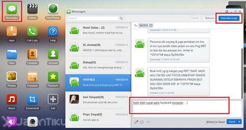 Cara Cepat Mengetik SMS Di Android Melalui Komputer3