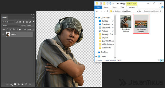 Langkah 7 - Cara Mengganti Background Foto