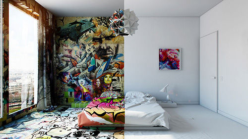 Hotel Room Graffiti 1