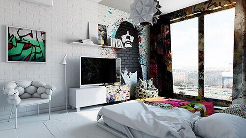 Hotel Room Graffiti 2