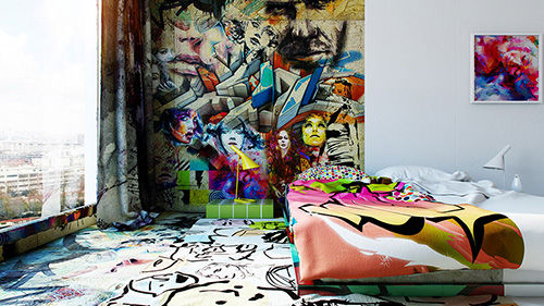 Hotel Room Graffiti 3