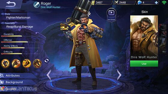 Guide Roger Mobile Legends : Manusia Serigala Pembunuh